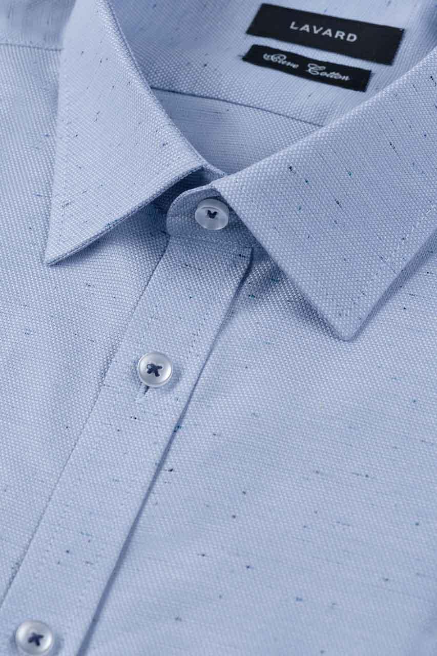 Niebieska koszula męska slim fit 92961 Sklep LAVARD  MGdYw