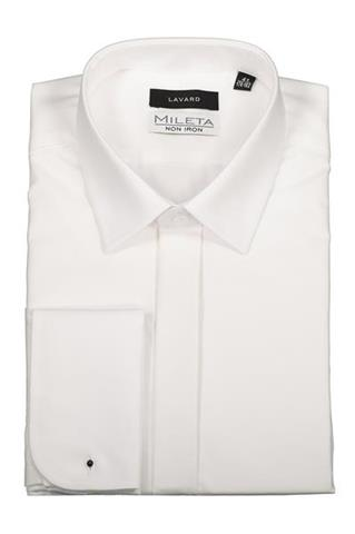 Koszule Męskie, Slim, Białe Lavard  lxz8g