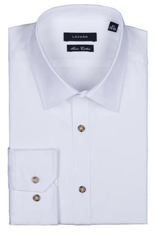 Koszule Męskie, Slim, Białe Lavard  nj2Ab